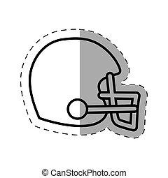 helmet american football cut line vector illustration eps 10