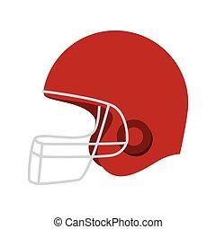helmet american football icon vector