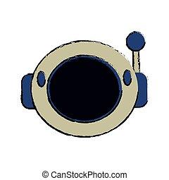 helmet astronaut equipment image vector illustration eps 10