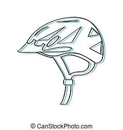 Helmet bike outline