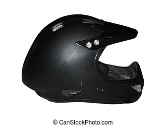 Helmet - Clear photo of black Cycle fullface helmet