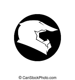 Helmet cross icon vector illustration template design