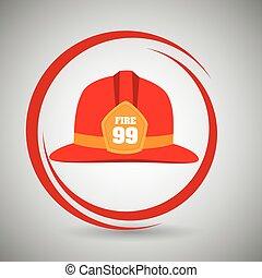 helmet fire hat icon