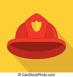 Helmet icon, flat style