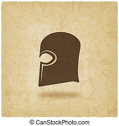helmet icon old background