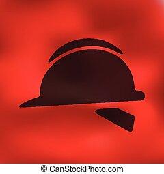 helmet icon on blurred background