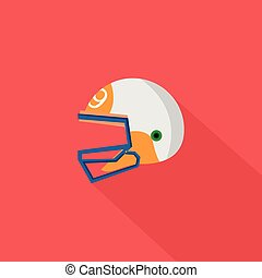 Helmet Icon | Set of great flat icons with style long shadow icon and use for sport, hobby , job and much more.