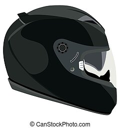 Helmet - Motorcycle helmet on a white background