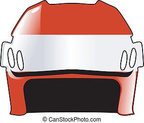 helmet in colors of Austria
