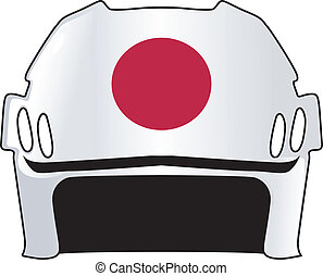 helmet in colors of Japan