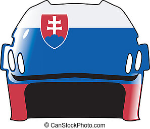 helmet in colors of Slovakia