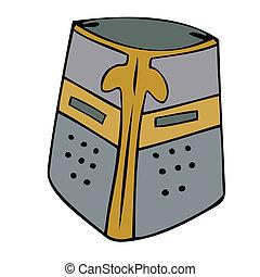 helmet., medievale