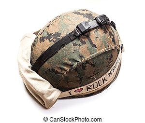 helmet military isolated on white
