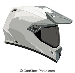 Helmet - Motorcycle helmet on a white background