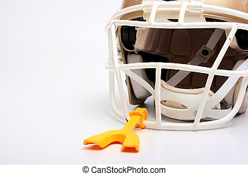 Helmet mouthpiece - Helmet for game in the American football...