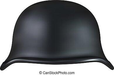 helmet., nosotros, realista, illustrasion, ejército, estilo viejo, motocicleta, 3d