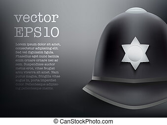 helmet of British police vector background