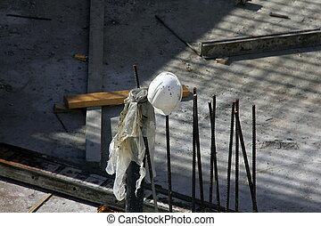 Helmet on the construction site