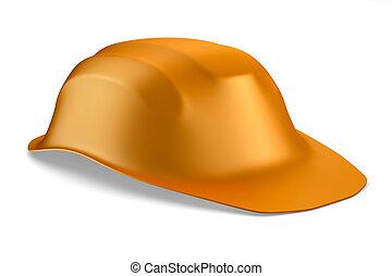 helmet on white background. Isolated 3D image