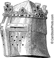 Helmet or galea worn by Louis IX in the battle of the...