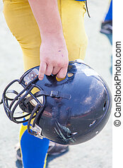 Helmet player American football