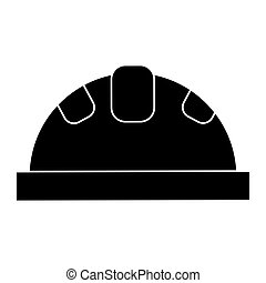 helmet protective head construction security pictogram