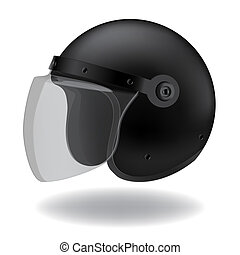 helmet  - Police Motorcycle helmet on white background