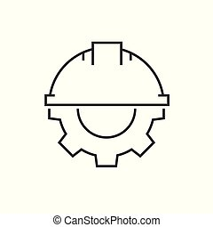Helmet with gear icon