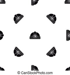 Helmet with light pattern seamless black
