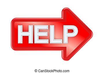 help., 単語, 赤い矢印
