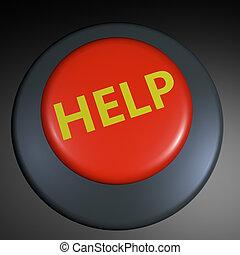 """""""help"""", 3d, botón"""