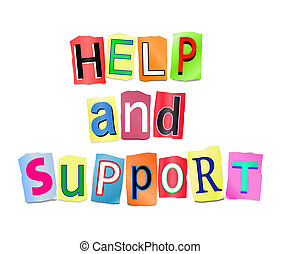 Help and support concept.