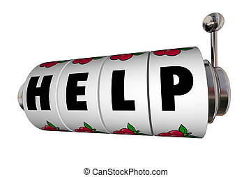 Help Assistance Service Support Slot Machine 3d Illustration