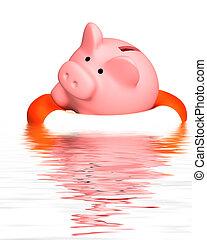 Help at financial crisis - Conceptual image - help at...