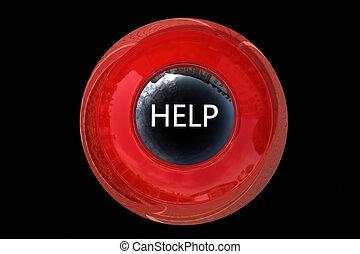 Help Button - 3d rendered illustration