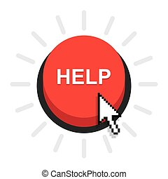 Help button icon, vector
