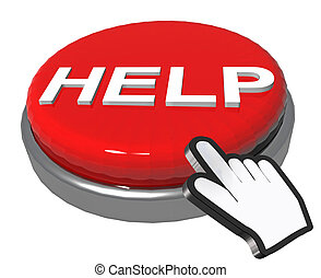 help button ,pointer like hand