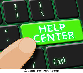 Help Center Online Shows Faq Advice 3d Illustration