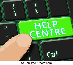 Help Centre Online Shows Faq Advice 3d Illustration