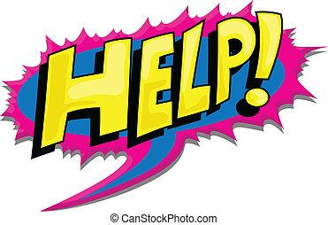 Help - Comic Graffiti Style Text