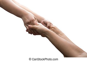 Help concept hand reaching out for help isolated i