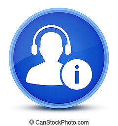 Help desk icon isolated on special blue round button abstract