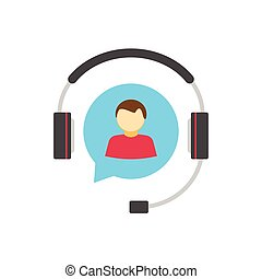 Help desk logo concept, customer support service assistance vector icon
