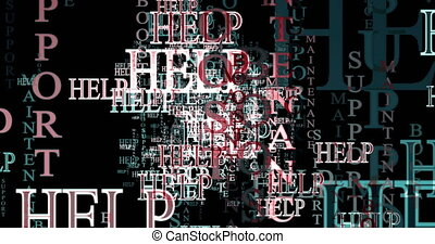 Help for advertisement maintenance. Text graphics. - Poster...
