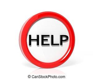 Help glossy web icon