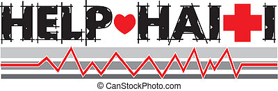 Help Haiti Text 2 - Vector Illustration to Help Haiti with ...