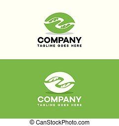 help hand care green logo template