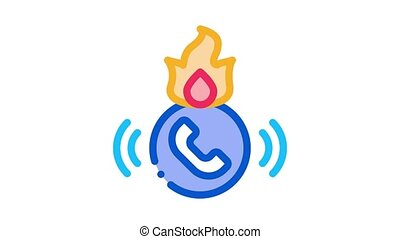help hotline Icon Animation. color help hotline animated icon on white background