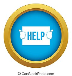Help icon blue isolated