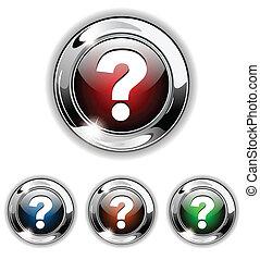 Help icon, button, vector illustrat